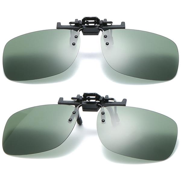 solglasögon _ 3par Glasögonklipp _ polariserad klipp-på _ solglas Dark green 3pair 130*17*41mm