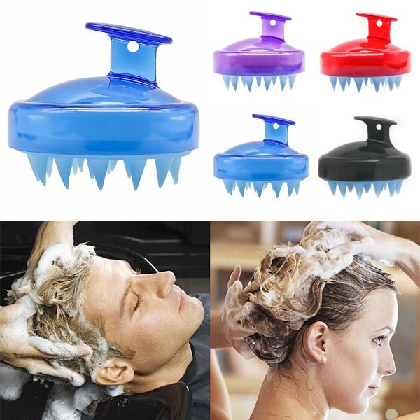 Hårbottenmassage för hårbottenmassage schampoborste för hårbottenvård red