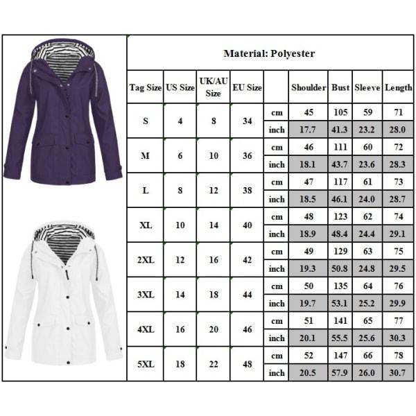 Högkvalitativa kvinnor vattentäta klättring kläder dragkedja purple L