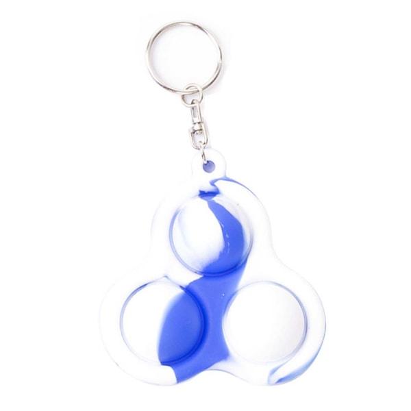 Nyckelringleksak _ lättanvända familjespel _ Nyckelringleksak Triangle-blue and white