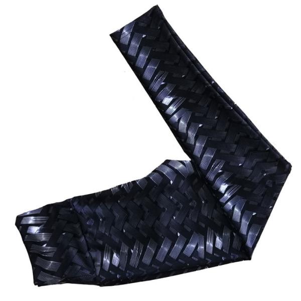Ladies woven printed yoga pants fitness sports yoga pants black S
