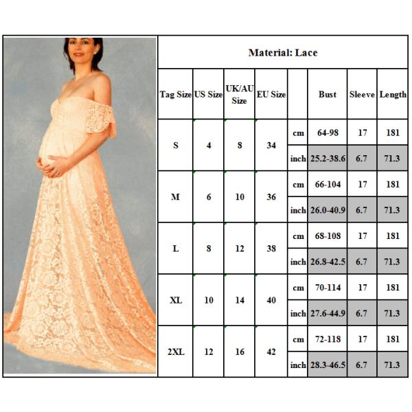 Moderskap off-shoulder ruffled ärm klänning klänning