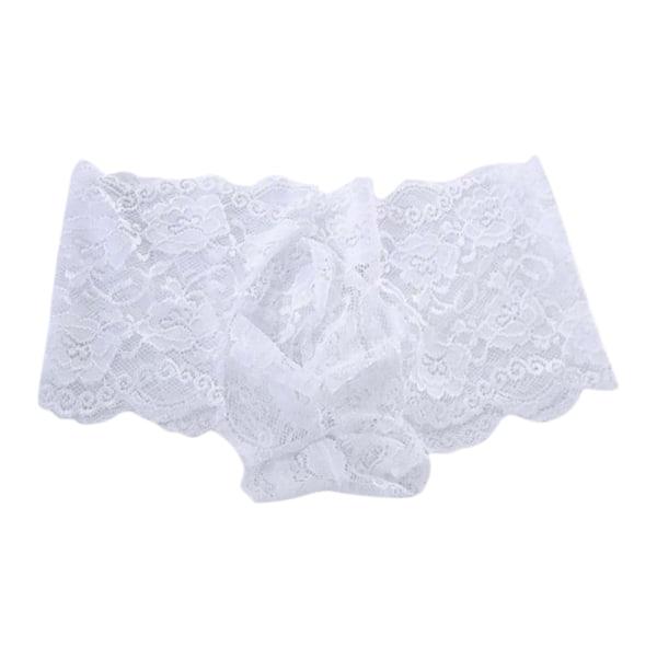 Herrens sexiga underkläder stringtrosor med låg midja white 3XL