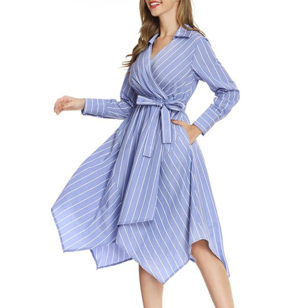 Mönster skjorta kjol kvinnlig temperament stjärna samma stil klänning