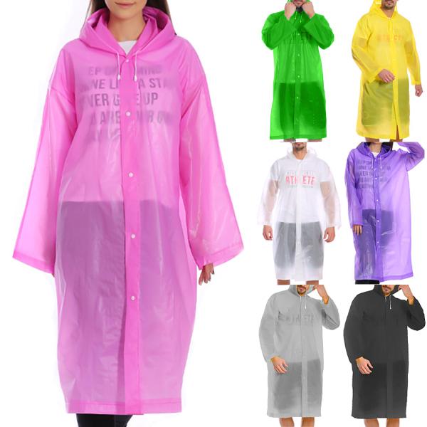 Raincoat EVA Nano Rain vattentätt andningsskyddrock Transparent