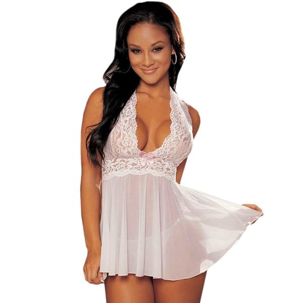 Kvinnor en sexig djup v-ringad underkläder underkläder kostym White S
