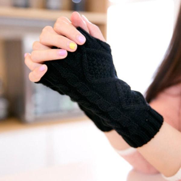 Damhandskar med halvfinger för kvinnor Långa handskar Black diamond