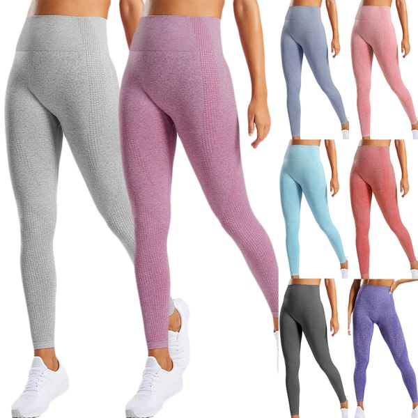 Women's High Waist Solid Color Yoga Tights Sweatpants Dark gray L