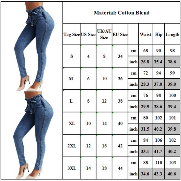 Women's skinny jeans with a high waist, skinny denim sweatpants gray M