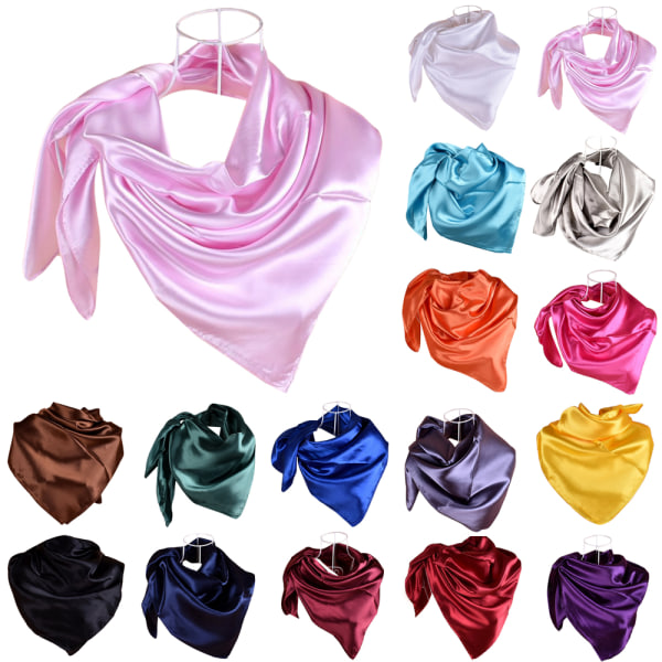 Kvinnors enfärgade halsduk temperament halsduk sjal mode coffee 90*90cm