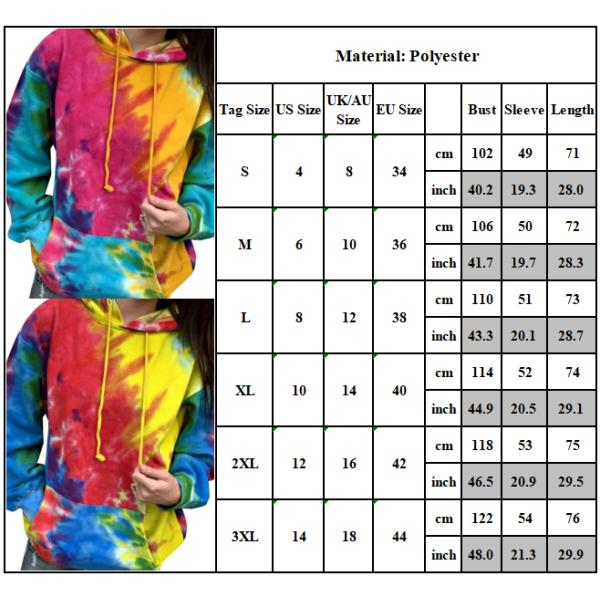 Dam Tie Dye Gradient Sweatshirt Hoodie Top Sweatshirt green 3XL