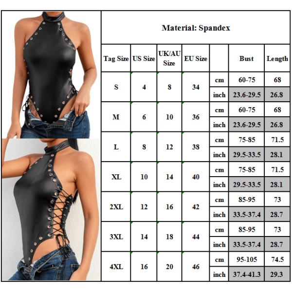 Dam Snörning Halterneck Jumpsuit Underkläder Nattkläder Nattkläder