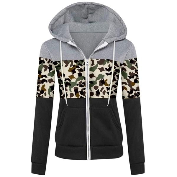 Kvinnors Hoodiejacka Långärmade tröjor Blixtlack