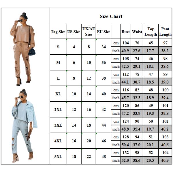 Kvinnors långärmade toppar + byxor set mode fritidssport