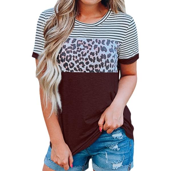 Kvinnors damer sommar strand casual tunika mode blus t-shirt Light Grey L