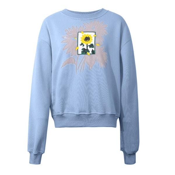 Kvinnors damer toppar bluströja tröja tröja tröja Yellow 2XL