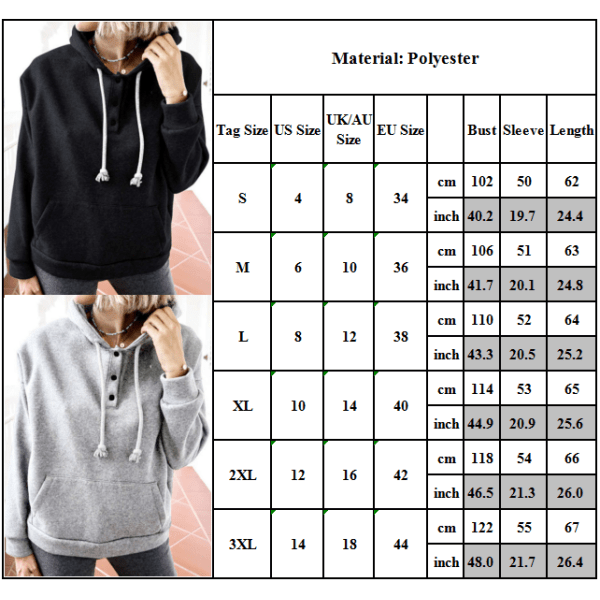 Kvinnors Plain Hooded Hoodies Sport Casual Jogging Pullover Gym Creamy White L