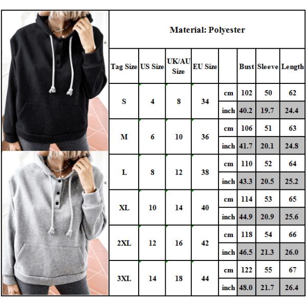 Kvinnors Plain Hooded Hoodies Sport Casual Jogging Pullover Gym Light Grey 2XL
