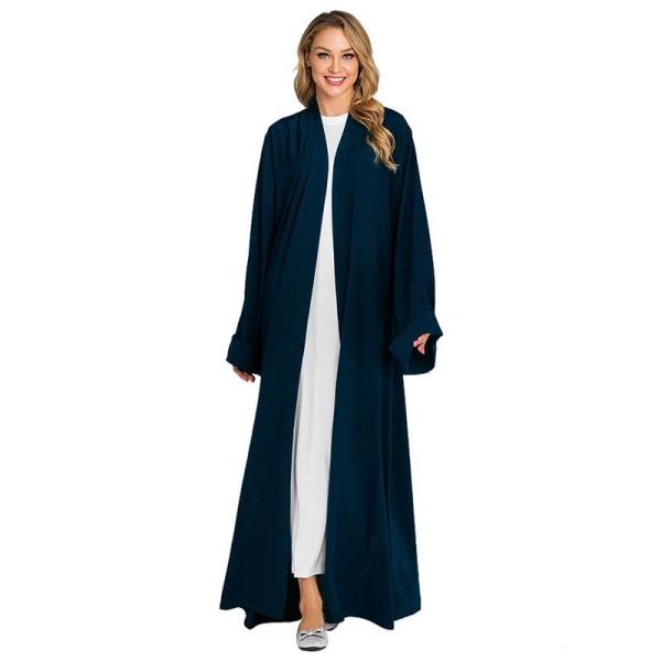 Europeisk och amerikansk mode långfärgad kappa