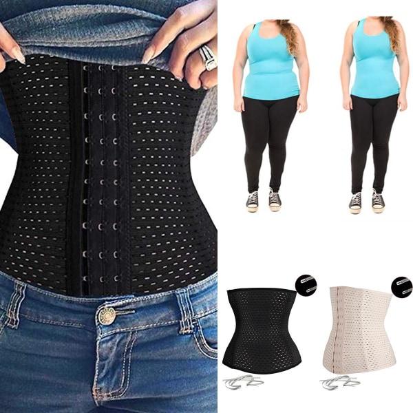 Kvinnors bälte midja tränare Shapewear Slim korsett mage kontroll black XL