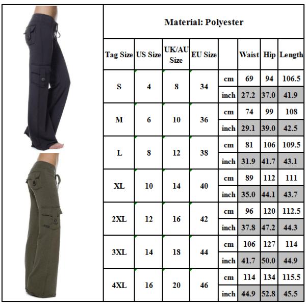 Women's High Waist Waist Button Pocket Yoga Pants Sweatpants green 3XL