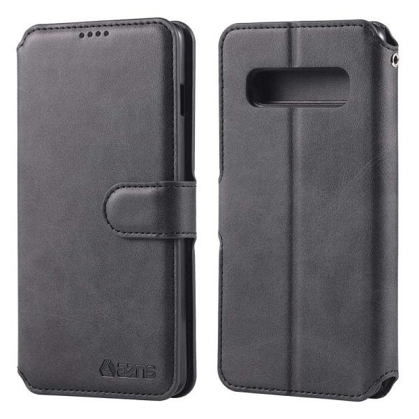 Samsung Galaxy S10E - Praktiskt Stilsäkert Plånboksfodral Svart