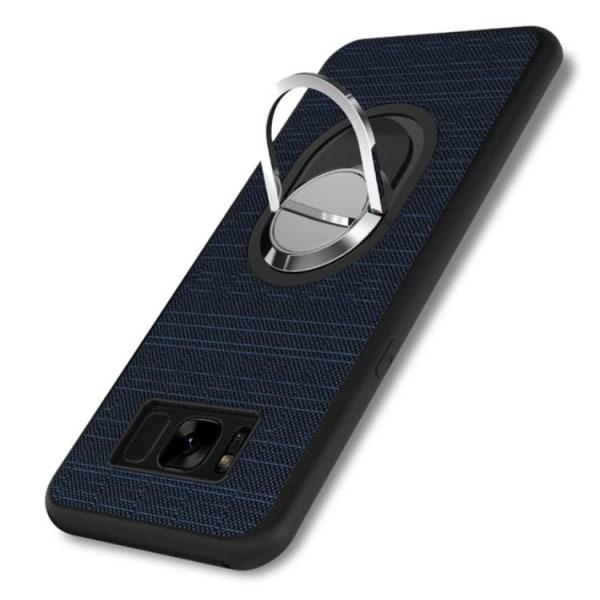Galaxy S8 + - Stilrent Silikonskal med Ringhållare FLOVEME Blå