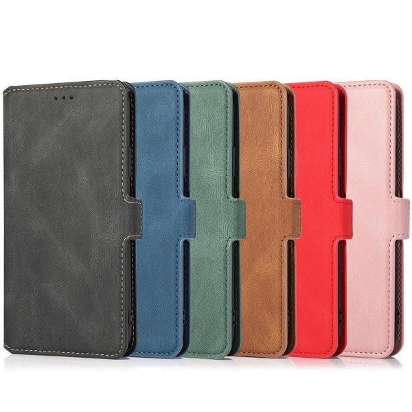 Samsung Galaxy A41 - Plånboksfodral (FLOVEME) Mörkgrön