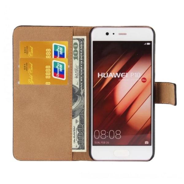 Huawei P10 Plus - Stilrent Plånboksfodral från TOMKAS (Läder) Vit