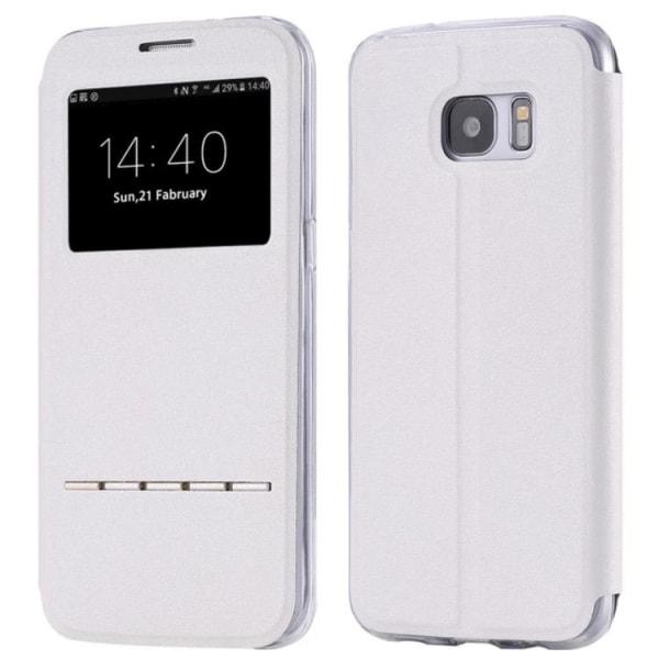Samsung S8 Smartfodral med fönster och svarsfunktion Vit