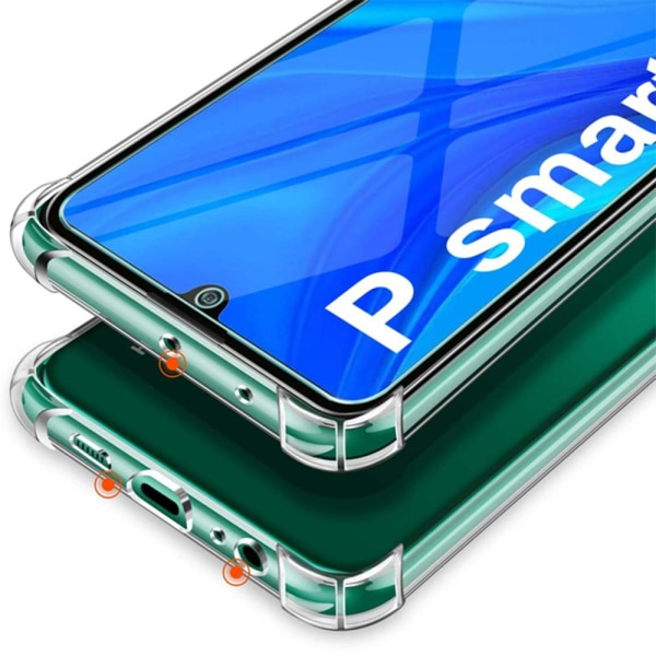 Huawei P Smart 2021 - Skyddande Silikonskal (Floveme) Transparent/Genomskinlig