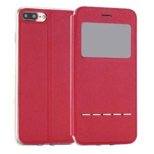 iPhone SE 2020 - Smidigt Fodral Fönster Svarsfunktion Röd
