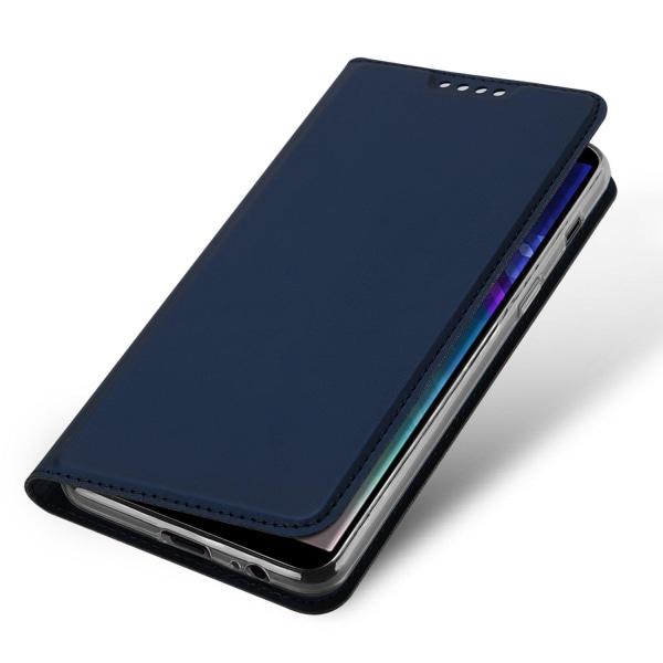 DUX DUCIS Stilrent Fodral med Kortfack - Samsung Galaxy A6 Plus Marinblå