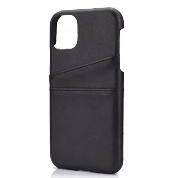 iPhone 11 - Exklusivt Vintage Skal med Korthållare (SUTENIS) Svart