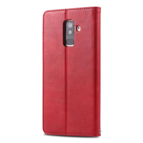 Samsung Galaxy A6 Plus 2018 - Effektfullt Plånboksfodral Ljusbrun