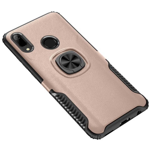 Huawei Y6 2019 - Praktiskt Skal med Ringhållare (LEMAN) Roséguld