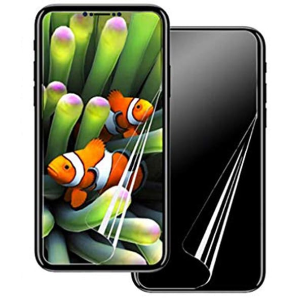 iPhone XR 2-PACK Skärmskydd Fram- & Baksida 9H Nano-Soft Transparent/Genomskinlig