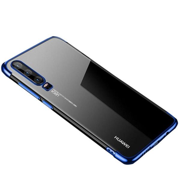 Huawei P30 - Stilrent Mjukt Silikonskal (Electroplated) Svart