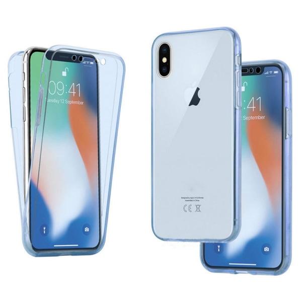 Crystal-Fodral med Touchsensorer (Dubbelsidigt) iPhone XR Blå