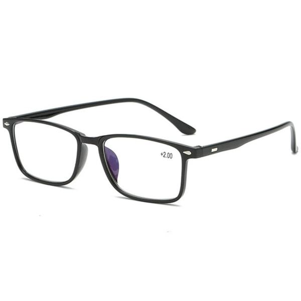 Anti-Blue Ljus Läsglasögon (+1.0 - +4.0) Blå 4.0