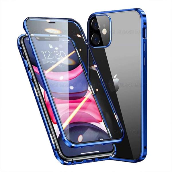 iPhone 12 Mini - Smidigt Magnetiskt Dubbelskal Lila