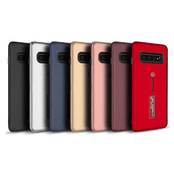 Samsung Galaxy S10 - Robust Praktiskt Skal (KISSCASE) Röd