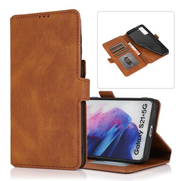 Samsung Galaxy S21 Plus - Plånboksfodral Brun