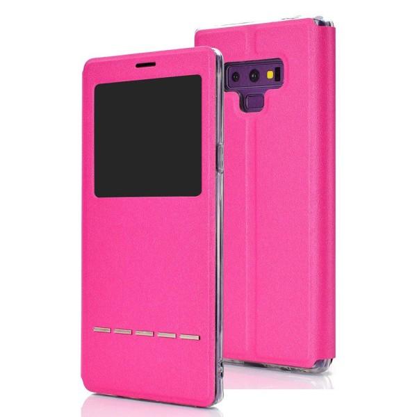 Smartfodral med Fönster & Svarsfunktion - Samsung Galaxy Note 9 Rosa
