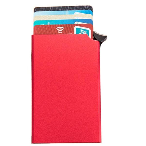 Smidig RFID-Skydd Korthållare Röd