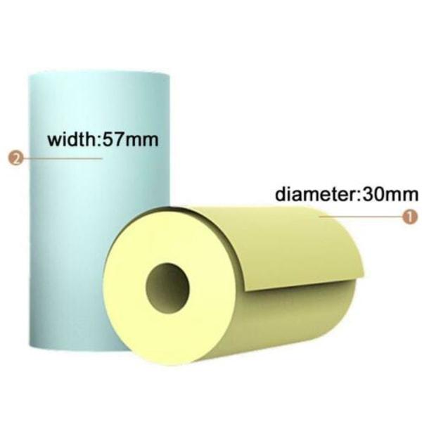 3/5 rulle 57 * 30 mm skrivarklisterpapper A6 PeriPage Pocket Direct