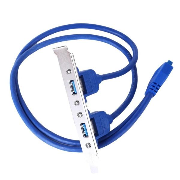 Extern dubbel USB 3.0 kvinnlig bakpanel till moderkort