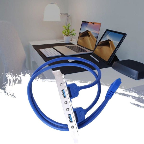 USB 3.0-expansionsfäste för bakpanelen till 20-stiftshuvud (2 portar)