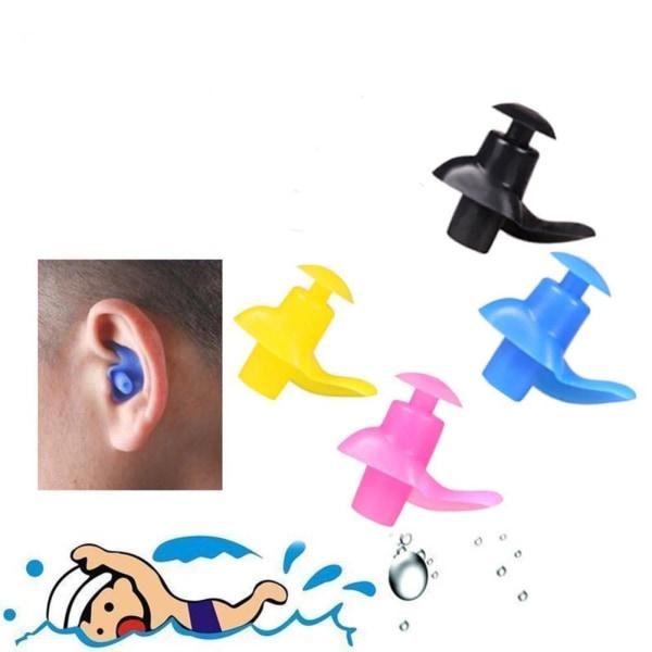 Mjuka silikonskyddande öronproppar för att sova arbeta med black