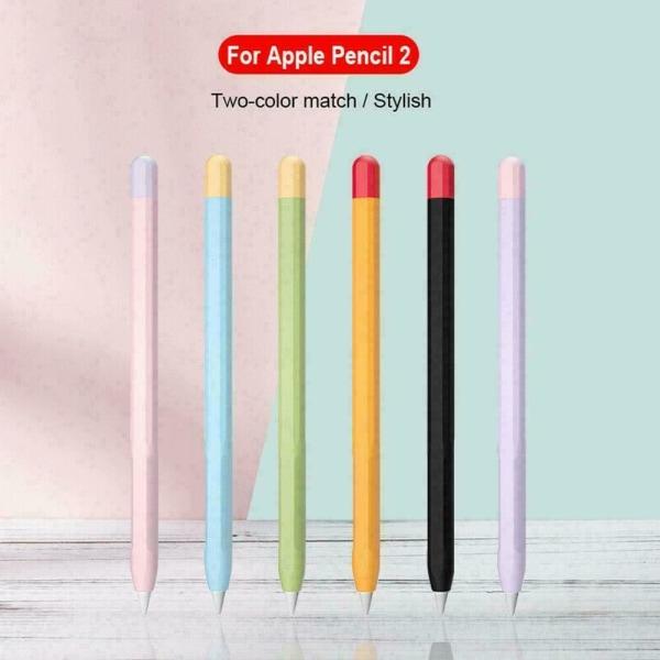 För Apple Pencil 1: a / 2: a generationens penna Silikonfodral omslagshylsa